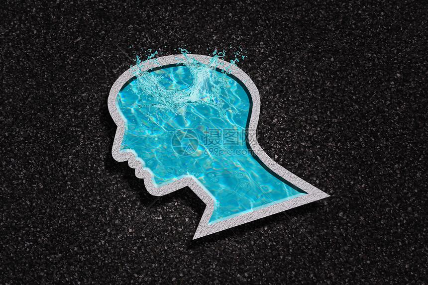 人脑中跳出的创意水花图片