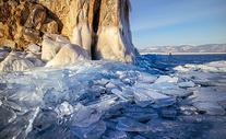冬季贝加尔湖冰封美景图片