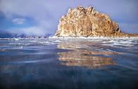冬季贝加尔湖冰封美景500672627图片