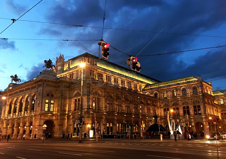 维也纳夜景图片