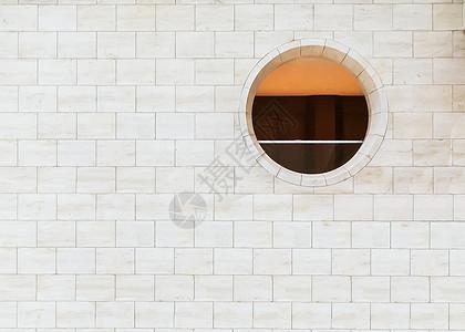简约墙壁圆窗背景图片