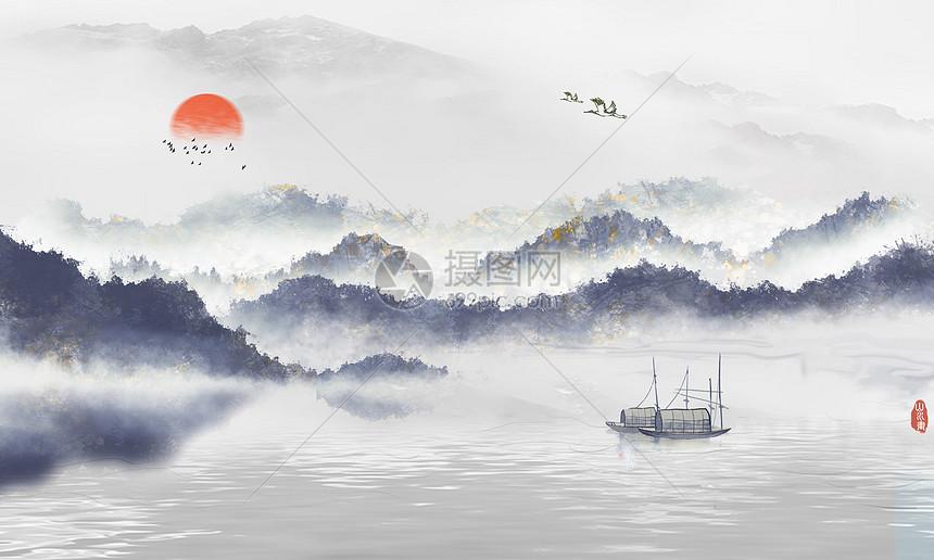 中国风大气背景图片