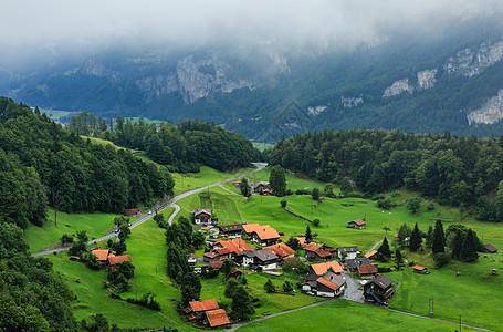 瑞士湖光山色图片