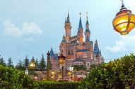 迪士尼城堡背景图片