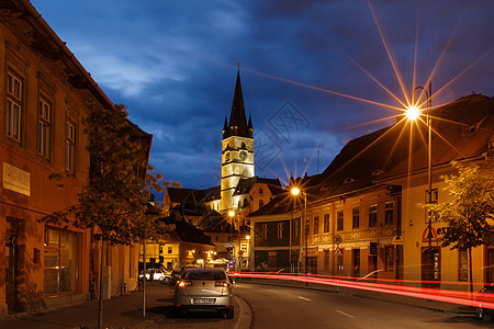 欧洲旅游城市夜景风光图片
