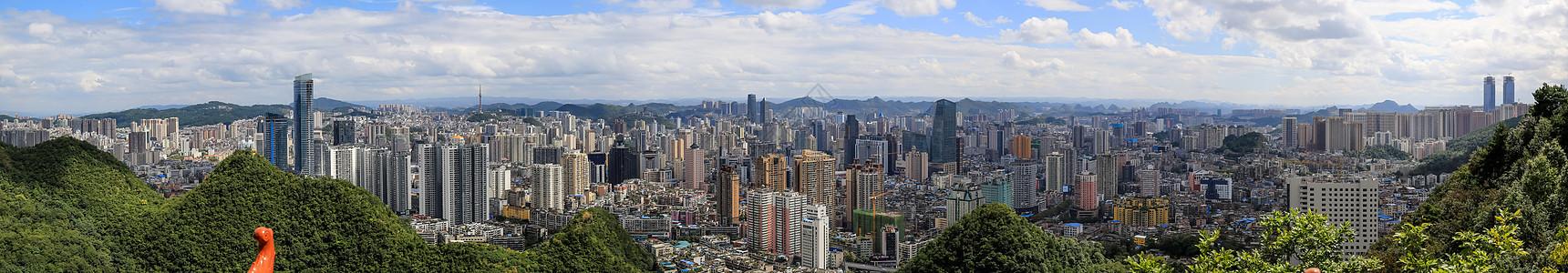 贵阳城市全景图图片