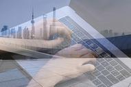 创意城市背景线上教育图片