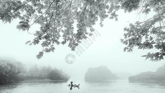 充满中国风的小东江雾气图片