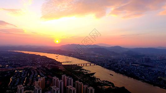 东江日落图片