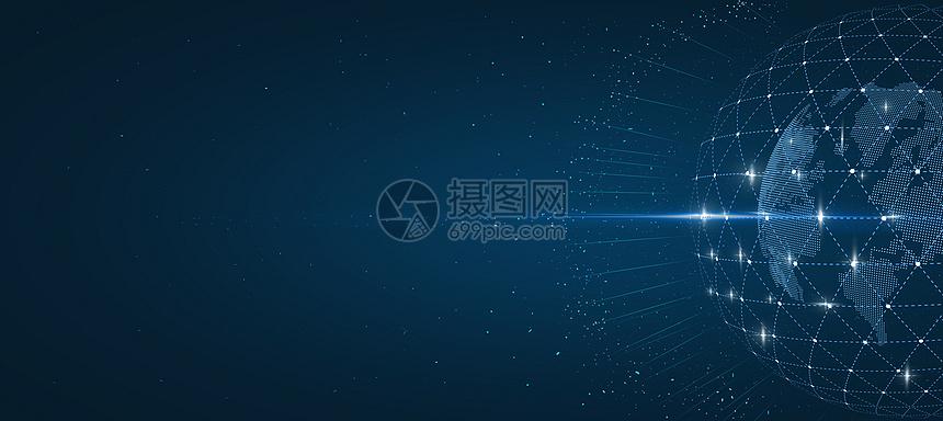 蓝色信息科技背景图片