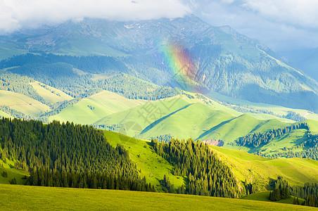 新疆特克斯草原风光图片