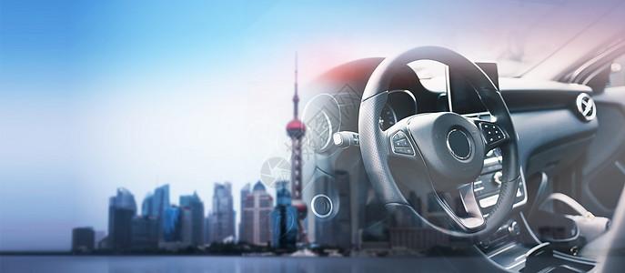 城市汽车背景图片