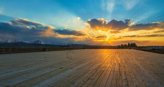 日落观景台图片