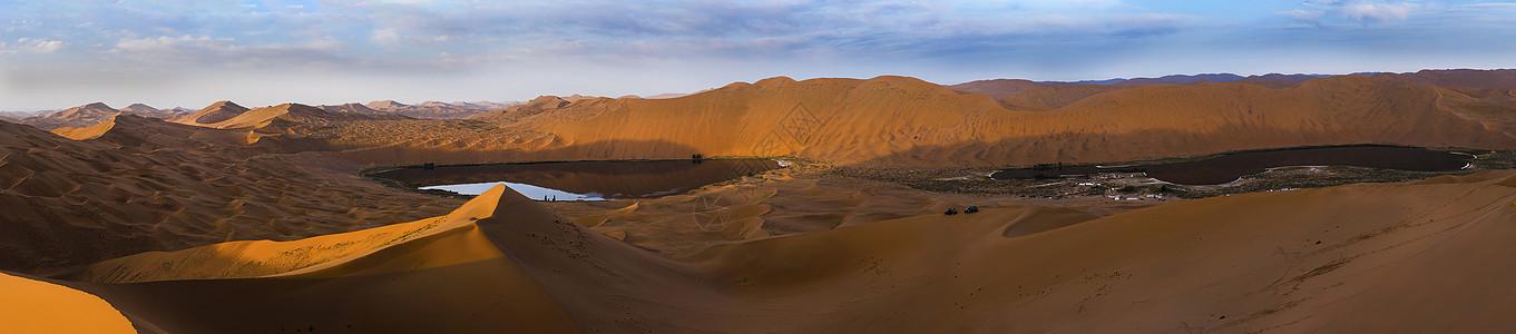 巴丹吉林沙漠全景图片