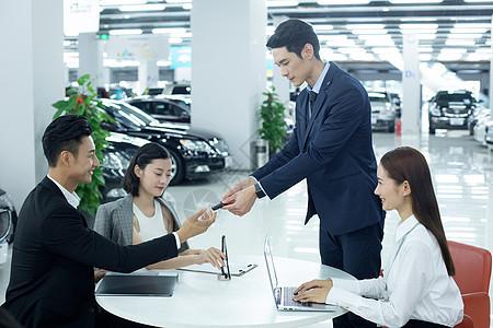 汽车销售成交签合同图片