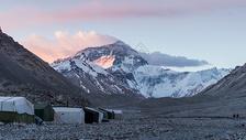 西藏珠峰日出风光图片
