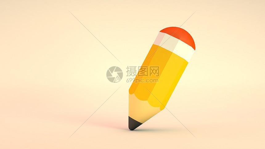 铅笔C4D图片