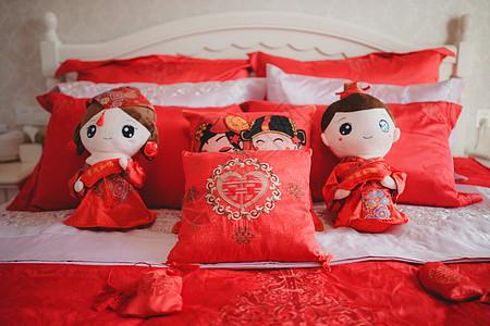 中式婚礼中国风婚床图片