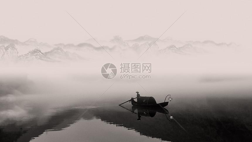 充满中国风意境的小东江雾气图片