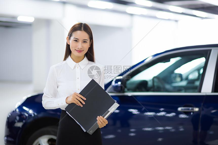 汽车贩卖商务女性图片