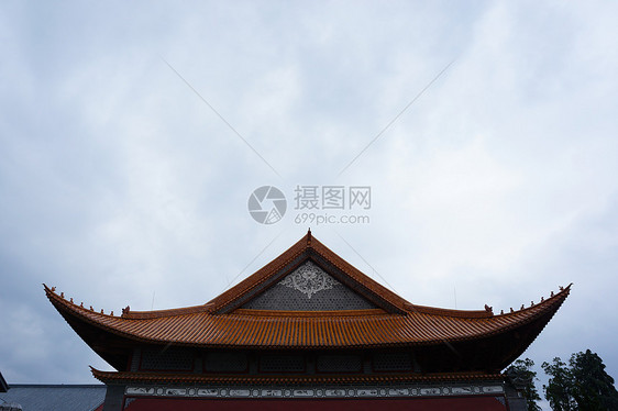 云南大理的屋檐房顶图片