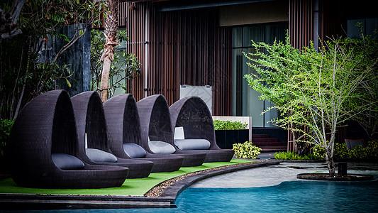 泰国希尔顿酒店泳池图片
