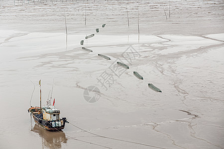霞浦滩涂美景图片