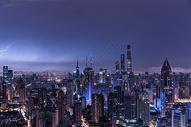 上海陆家嘴城市建筑风光图片