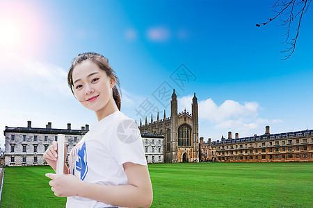 国外学习的女孩子图片