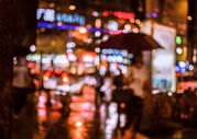 雨中景图片