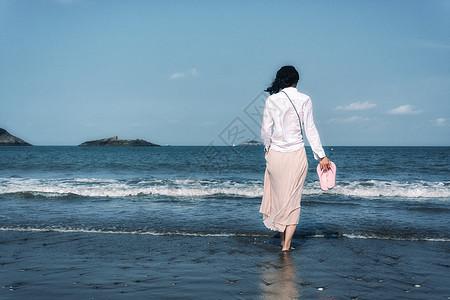 海边女孩图片