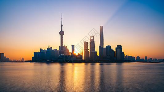 上海外滩日出图片