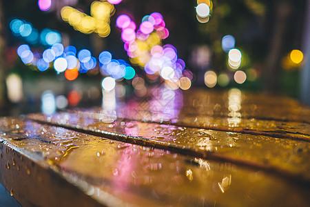 水滴光斑夜景背景图片