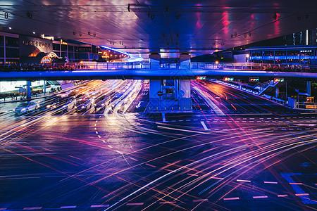城市夜景交通图片