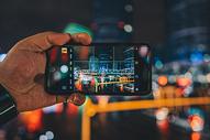夜景手机摄影图片
