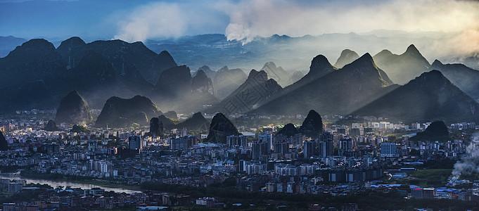 桂林山城之光图片