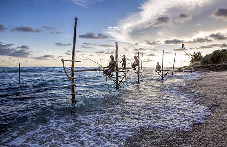 斯里兰卡海边垂钓图片
