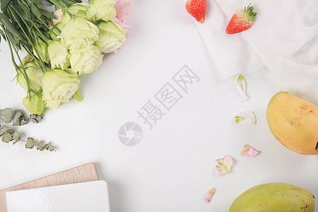 鲜花水果素材图图片