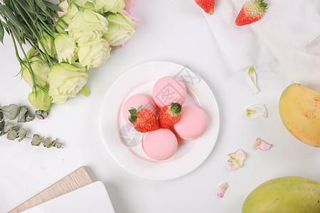 鲜花甜品素材背景图图片