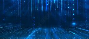蓝色空间大气科技线条背景图片