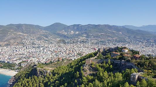 土耳其海岸城市高清图片