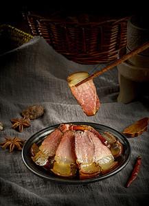 切片的腊肉图片