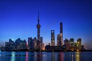 上海东方明珠城市黎明图片