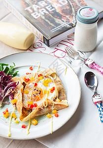 太阳蛋早餐图片