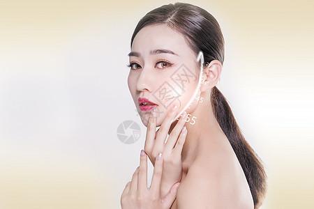 美女美容广告图片