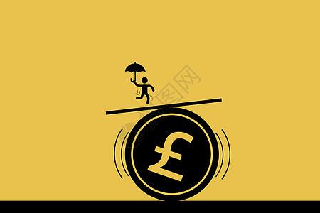小人站在钱币符号上图片