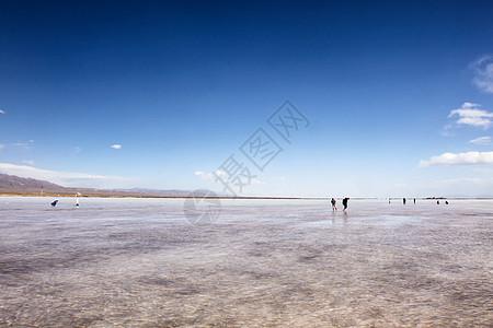 青海湖茶卡盐湖图片