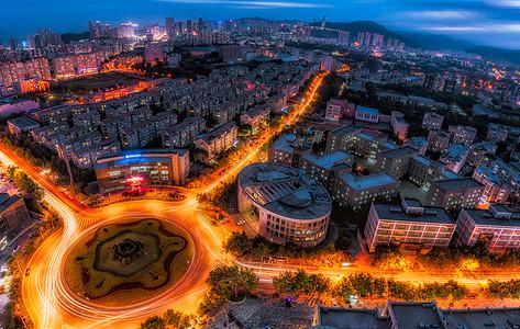大鹏展翅大连城市建筑夜景图片
