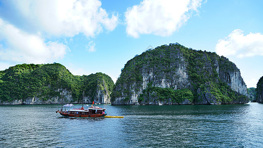 越南下龙湾世界自然遗产风景名胜 小暑图片