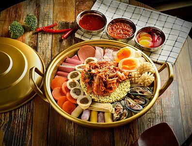 韩国料理海鲜锅图片